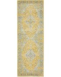Floral Runner Rug Amazing Shopping Savings Unique Loom Tradition Yellow Beige