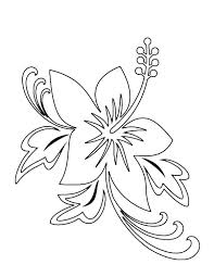 tropical beach coloring pages beautiful hawaii state flower hibiscus flower coloring page