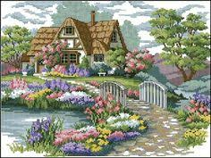 Country Cottage Cross Stitch Carl Valente Cross Stitch Needlework Crafts French Dmc Quality