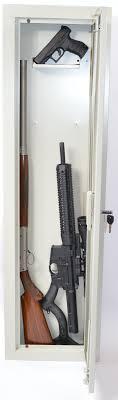 between the studs gun cabinet stack on in wall hidden storage alloutdoor com