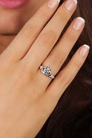 clatter ring birthstone silver claddagh ring ls sl90 12