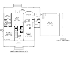 apartments house plans with 2 master bedrooms first floor master