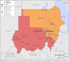 Sudan Africa Map by Smartraveller Gov Au Sudan