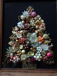 Stand Up Chandelier Vintage Rustic Jewelry Art Christmas Tree Jewelry U0026 Carved Wood