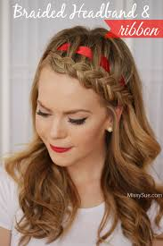 braid headband braided headband with a ribbon sue