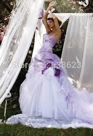 purple white wedding dress daw2447 vintage flowers appliqued 2016 bridal dresses white and