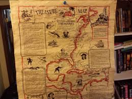 World Treasure Map by A Real Treasure Map
