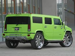 hummer jeep wallpaper 2005 geigercars hummer h2 maximum green kompressor rear and side