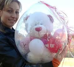 teddy in a balloon gift keepsake stuffer balloon stuffer machine a way to