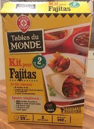 kit cuisine du monde kit pour fajitas tables du monde