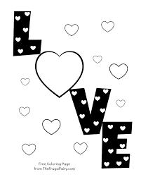 valentine u0027s printable love hearts coloring valentine u0027s