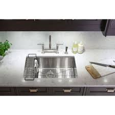 Bridge Kitchen Faucet With Side Spray by Kohler K 7548 4 Vs Purist Vibrant Stainless Steel Two Handle