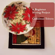 quick sewing projects christmas trivets