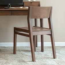 Black Walnut Dining Chairs Solid Wood Dining Chair American Black Walnut Color White Oak