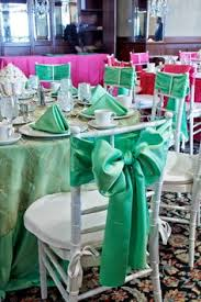 mint chair sashes in mad tea party birthday party ideas chair