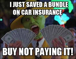 Insurance Meme - car insurance meme as an illustration of the disappointment