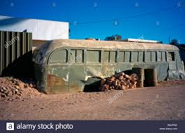 andamooka opal ruined old bus in andamooka opal mining town south australia stock