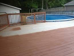cabot brand chestnut brown stain for our new deck you may have