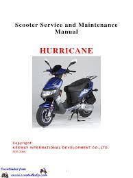 keeway hurricane 50cc service manual carburetor ignition system