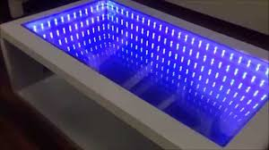 How To Make An Led Light Bar by Infinity Mirror Table Self Made Youtube