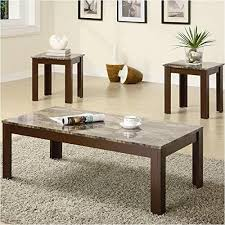 coffee table and end table set 3 piece faux marble top living