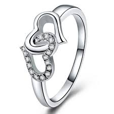 love shaped rings images Sterling silver ring heart to heart confession ring 925 silver jpg