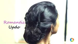 Hairstyle Diy by Hairstyle Diy Romantic Updo Youtube