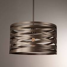 Large Drum Light Fixture by Tempest Drum Pendant Light By Hammerton Studio Ylighting