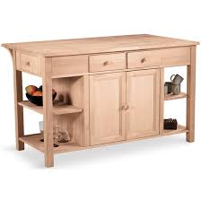 unfinished kitchen islands unfinished kitchen island w counter shelves by international