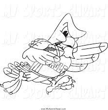 sports clip art of a black and white bald eagle hawk or falcon