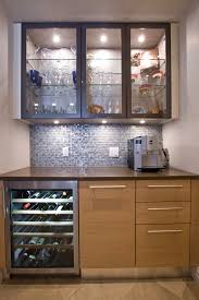 Home Bar Cabinet With Refrigerator - bar cabinets for home kitchen contemporary with glass front