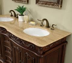 Antique Looking Bathroom Vanities 60 Inch Antique Style Double Sink Bathroom Vanity Cabinet With