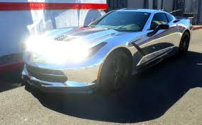 chrome wrapped cars 2015 c7 corvette chrome wrap certified collision repair provider