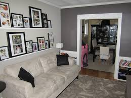 living room feature wall grey feature wall picture ledge and