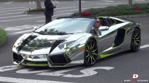 Lamborghini Veneno Galaxy - chrome lamborghini aventador roadster start up acceleration