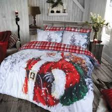 Tesco Value Duvet Cover Buy Vintage Father Christmas Duvet Cover Set Double From Our