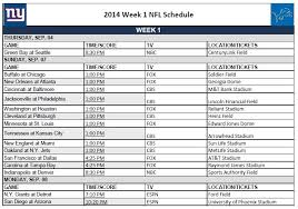 printable nfl schedules week 1 print your weekly nfl schedule