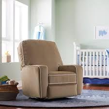 bailey custom fabric nursery swivel glider recliner chair