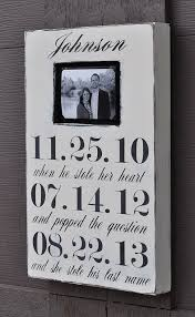 wedding gift etsy photo frame custom wedding sign personalized engagement gift