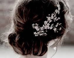 rhinestone hair rhinestone hair clip etsy