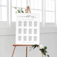 portrait wedding seating chart printable wedding seating chart