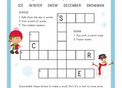 1st grade crossword worksheets u0026 free printables education com