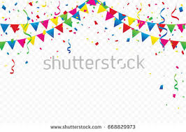 birthday ribbons colorful party flags confetti ribbons falling stock vector