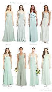 mint mismatched bridesmaid dresses