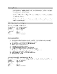 sap abap sample resume resume cv cover letter sample sap resume