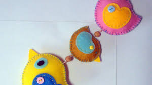 Home Button Decorations by Make A Cute Hanging Felt Bird Decoration Diy Home Guidecentral