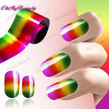 online buy wholesale rainbow nail art from china rainbow nail art