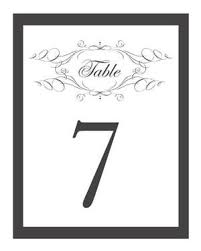 wedding table numbers template free printable wedding table numbers wedding free wedding