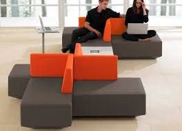 Commercial Modular Upholstered Bench DNA Teknion Furniture - Office lounge furniture
