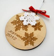 personalized ornament wooden laser engraved decoration